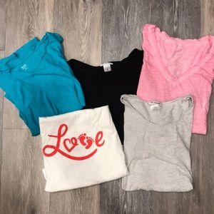 Maternity T-shirt bundle 5 shirts